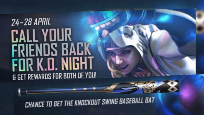 Knockout swing baseball bat skin