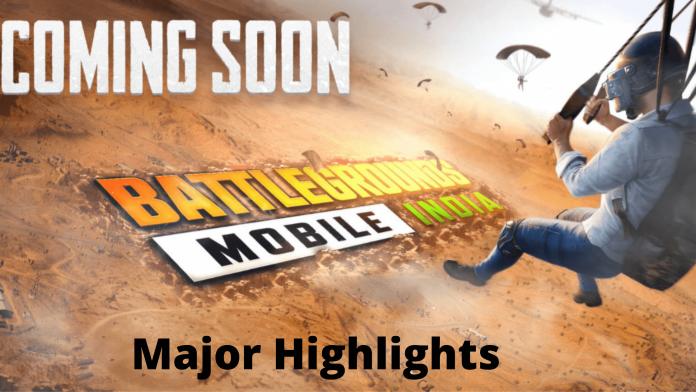 Battlegrounds Mobile India Major Highlights